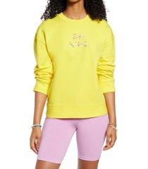 women's bp. pullover sweatshirt, size x-small - yellow