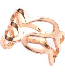 anel boca santa semijoias amor infinito ouro rosê