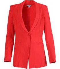 bright red blazer jacket