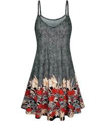floral print cami a line dress