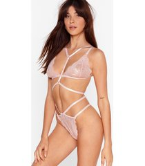 in lace you weren't aware bralette and thong set