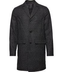grin coat 11122 wollen jas lange jas zwart samsøe & samsøe
