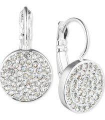 anne klein crystal pave disc drop earrings