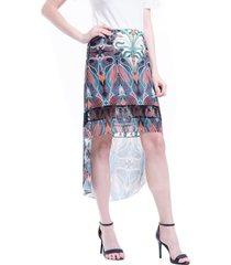 saia 101 resort wear mullet chifon estampado tribal multicolorido