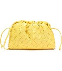 'the pouch mini' intrecciato leather clutch