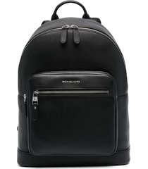michael kors collection pouch-pocket leather backpack - black