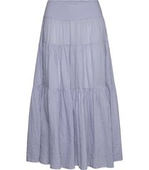 sable knälång kjol blå masai