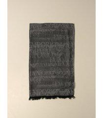 emporio armani scarf emporio armani wool and modal scarf with logo