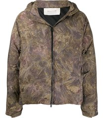 1017 alyx 9sm camouflage-print puffer jacket - green