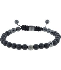 black diamond and onyx bead bracelet