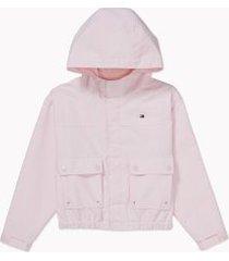 tommy hilfiger girl's adaptive hooded yachting jacket ballerina - xl