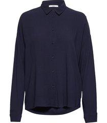 blouses woven blus långärmad blå edc by esprit
