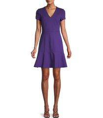 kobi halperin women's estella flounce-hem dress - plum - size 2