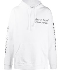 bornxraised x wacko maria logo-embroidered loose-fit hoodie - white