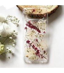 etui z suszonymi kwiatami - wrzos i dodatki