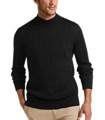 joseph abboud black modern fit 37.5® mock neck sweater