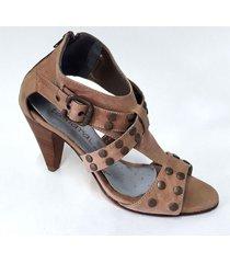 sandalia de cuero suela tamara shoes