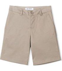 dondup beige cotton chino shorts