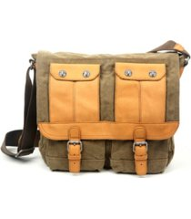tsd brand valley river canvas messenger bag
