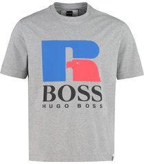cotton crew-neck t-shirt - boss x russell athletic