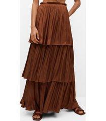 mango ruffled flowed skirt