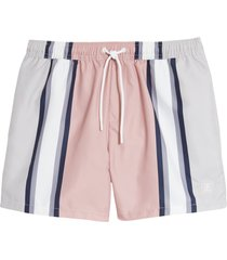 men's topman smart stripe swim trunks