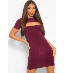 tall strakke bodycon jurk met uitsnijding, berry