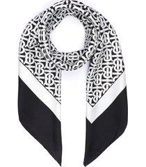 monogram silk scarf