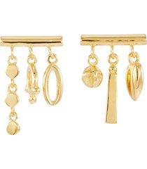 'a new world' charm bar stud earrings