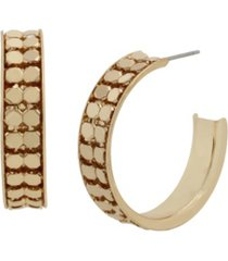 jessica simpson disco mesh chain hoop earrings