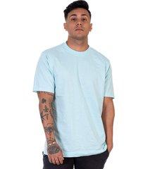 camiseta lucas lunny t shirt gola redonda azul claro - azul - masculino - algodã£o - dafiti