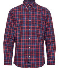 d2. tp oxford micro tartan reg bd overhemd casual rood gant