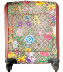 gucci floral printed suitcase