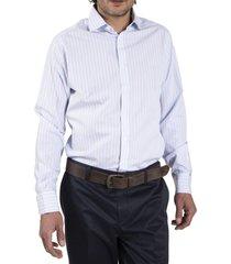 camisa algodón libre de arrugas celeste rockford rockford
