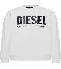 poleron s gir division logo sweat shirt blanco diesel