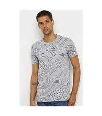 camiseta polo in básica logo masculina