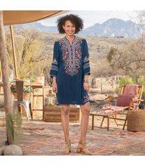 sundance catalog women's basilia dress in ocean xs