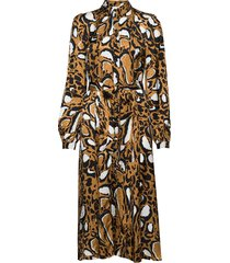 lorigz dress so20 jurk knielengte bruin gestuz