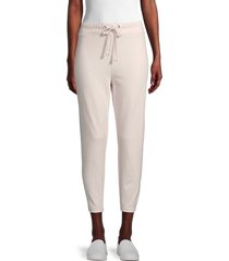 james perse women's tapered sweatpants - black - size 1 (s)