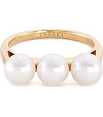 'balance' akoya pearl 18k yellow gold ring