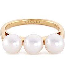 'balance' akoya pearl 18k yellow gold ring