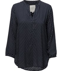 chichi bl blouse lange mouwen blauw part two