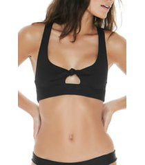 women's l space tara ribbed bikini top