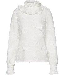 elda blouse lange mouwen wit custommade