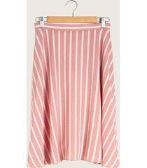 falda rosada de rayas rosado 10