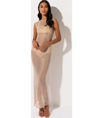 akira shameless rhinestone maxi dress