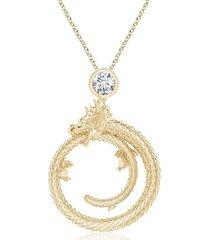natori dragon slider pendant with diamond, women's natori