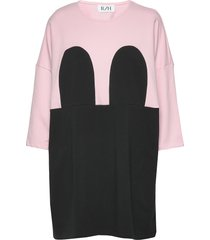 mickey square dress kort klänning rosa r/h studio