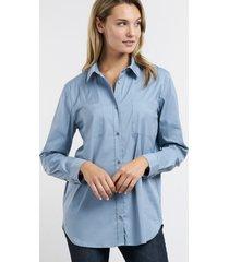 lange blouse met borstzakken
