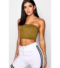 basic jersey bandeau top, salie